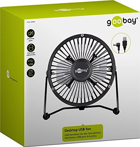 Goobay 8 Inch Desktop USB fan Black