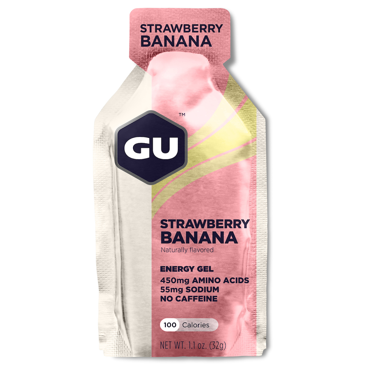 NPEU Strawberry Banana, GU Gel, 24 Pkt Ctn