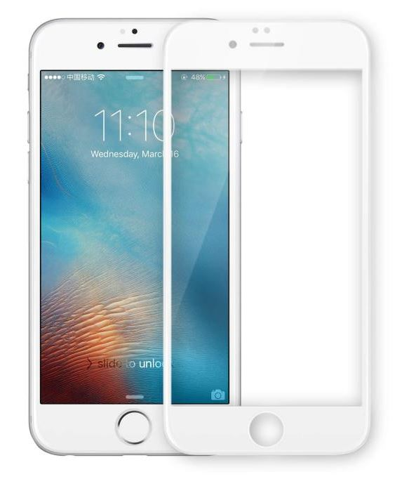 VMax 3D Full Tempered Glass White iPhone 6P/6sP/7P/8P