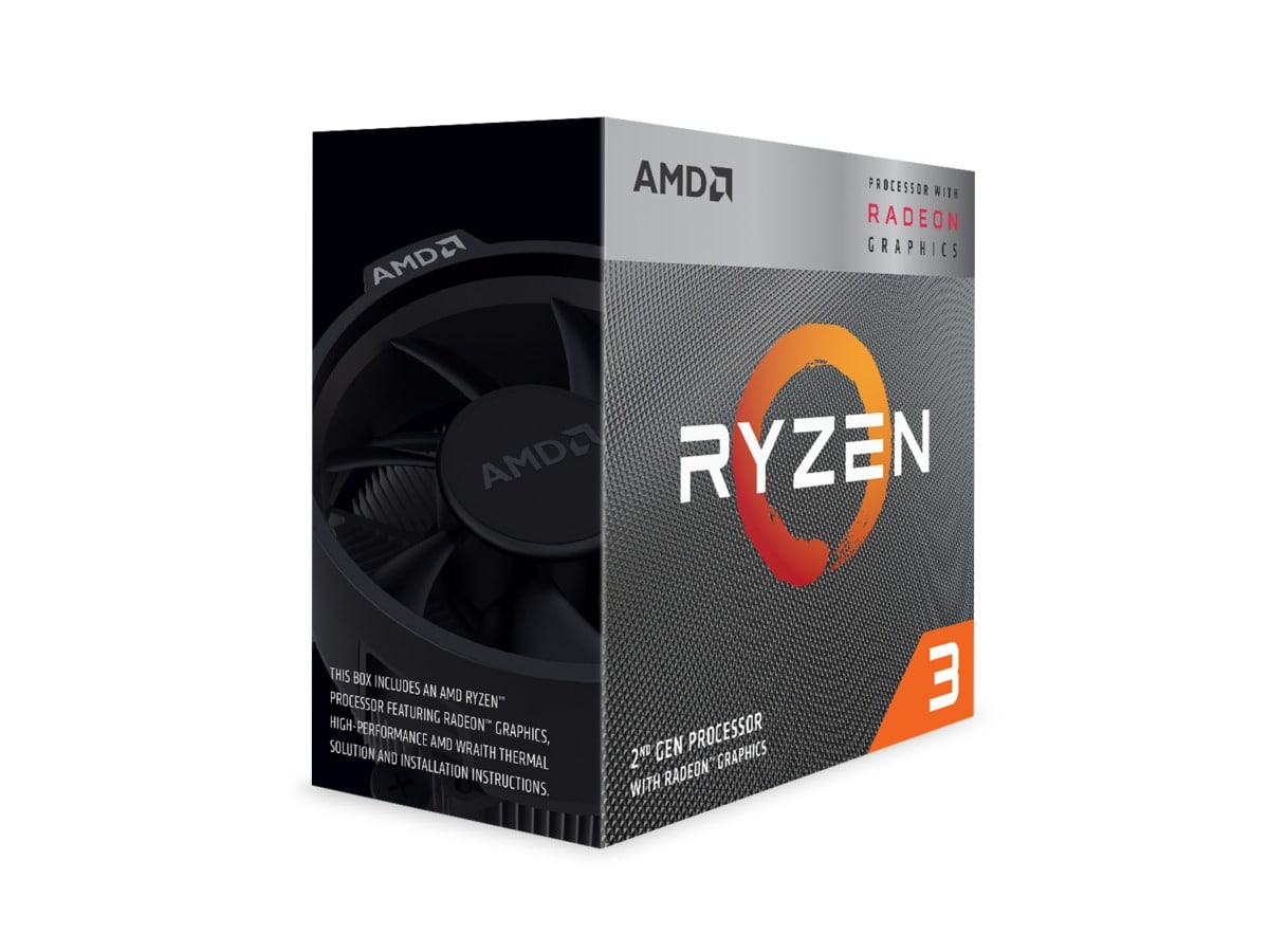 AMD CPU Ryzen 3 3200G 3.6GHz Quad-Core  AM4